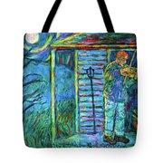 Fiddling At Midnight's Farm House Tote Bag