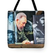 Fidel At The Used Book Sellers Market Tote Bag