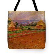 Field And Haystacks 1885 Tote Bag