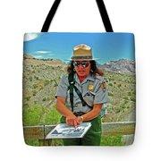 Field Archeologist Ranger In Quarry In Dinosaur National Monument, Utah  Tote Bag