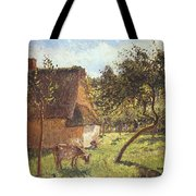 Field At Varengeville Tote Bag by Camille Pissarro