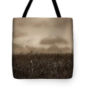 Field In Sepia Northern Poland Tote Bag