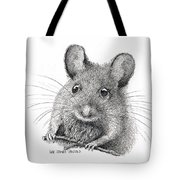 Field Mouse Or Meadow Vole Tote Bag