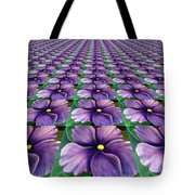Field Of African Violets Tote Bag