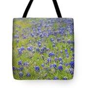 Field Of Blue Bonnet Flowers Tote Bag