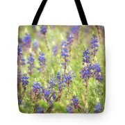 Field Of Blue Lupines  Tote Bag