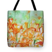 Field Of California Poppies Tote Bag