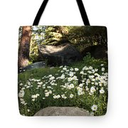Field Of Daisies In Tahoe Tote Bag