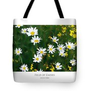 Field Of Daisies Tote Bag