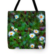 Field Of Daisys  Tote Bag