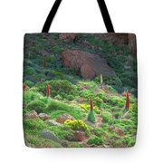 Field Of Echium Wildpretii In The Teide National Park Tote Bag