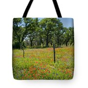 Field Of Fire Tote Bag