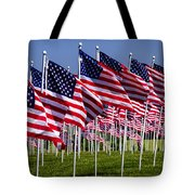 Field Of Flags For Heroes Tote Bag