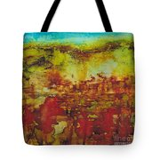 Field Of Flowers Under The Dew Tote Bag
