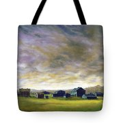 Field Of Green  18x24   Tote Bag