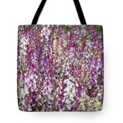 Field Of Multi-colored Flowers Tote Bag