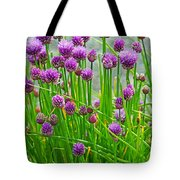 Field Of Onions  Tote Bag