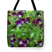 Field Of Pansy's Tote Bag