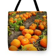 Field Of Pumpkins Card Tote Bag