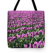 Field Of Purple Flowers Tote Bag