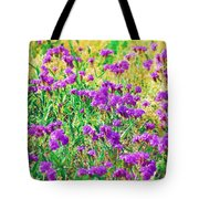 Field Of Purple Flowers Tote Bag