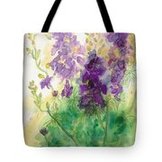 Field Of Purple Tote Bag