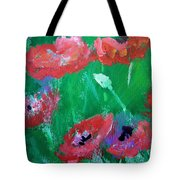 Field Of Red 2 Tote Bag