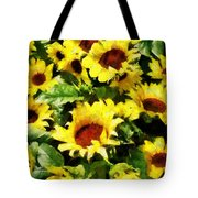 Field Of Sunflowers Tote Bag