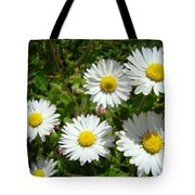 Field Of White Daisy Flowers Art Prints Summer Tote Bag