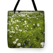 Field Of White Poppies Tote Bag