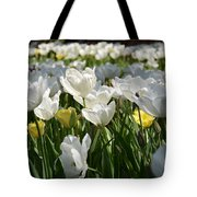 Field Of White Tulips Tote Bag