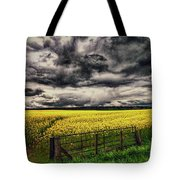 Field Of Yellow Flowers Tote Bag