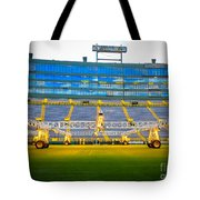 Field View Of Lambeau Tote Bag