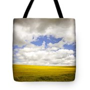 Field With Dramatic Sky. Tote Bag