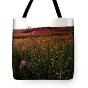 Fields In Pink Tote Bag