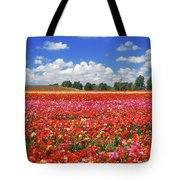 Fields Of Flowers At Nir Banim Tote Bag