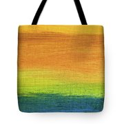 Fields Of Gold 1 - Abstract Summer Landscape Painting Tote Bag