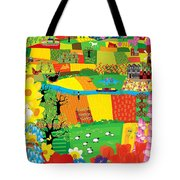Fields Patchwork Tote Bag