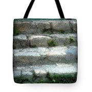 Fieldstone Stairs New England Tote Bag