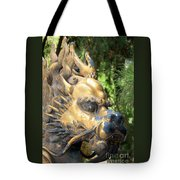 Fierce Foo Dog Face Tote Bag