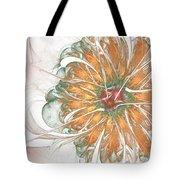 Fiery Chrysanthemum Tote Bag