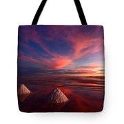 Fiery Clouds Over The Salar De Uyuni Tote Bag