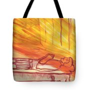 Fiery Four Of Swords Illustrated Tote Bag