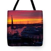 Fiery Harbor Tote Bag