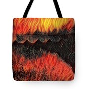 A Hot Valley Of Flames Tote Bag