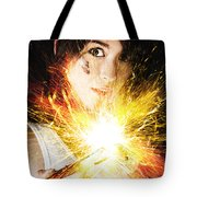 Fiery Jump Start Tote Bag