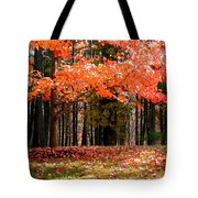Fiery Leaves Tote Bag