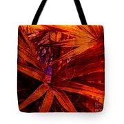 Fiery Palm Tote Bag
