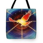 Fiery Raven Tote Bag