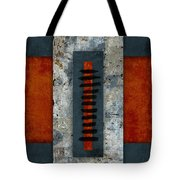 Fiery Red And Indigo Two Of Two Tote Bag